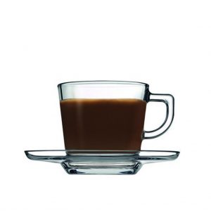 CARRE CUP AND SAUCER CAPPUCCINO TEMP 215CC P/864