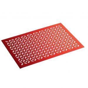 ΣΟΥΠΛΑ 30 x 45 CM HEMSTITCHED PVC LOFTY RED