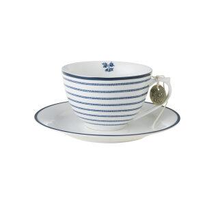 Laura Ashley-Blueprint Φλυτζάνι cappuccino με πιατάκι candy stripe