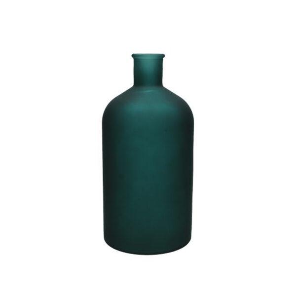 DARK GREEN ΓΥΑΛΙΝΟ ΒΑΖΟ 13.5x13.5xΥ28cm