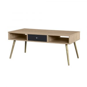 GREY COFFEE TABLE SONOMA ΓΚΡΙ ΣΚΟΥΡΟ 100x50xH43cm