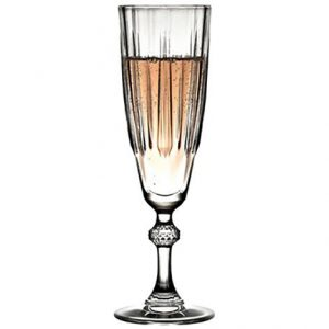 (CAM1024) DIAMOND CHAMPAGNE GLASS 170CC 20.6EK P576