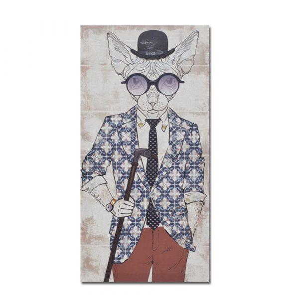 MR.CAT ΔΙΑΚΟΣΜΗΤΙΚΟΣ ΠΙΝΑΚΑΣ ΚΟΚΚΙΝΟΣ 30x60x1,8cm