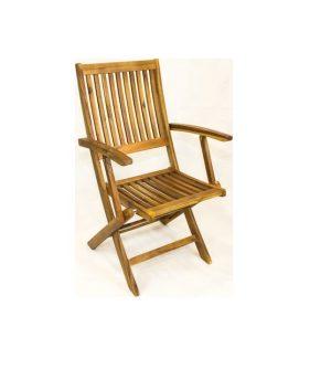 Πολυθρόνα ξύλινη πτυσσόμενη 5 θέσεων από ξύλο ακακίας