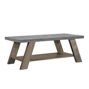 BONDI COFFEE TABLE CEMENT SONOMA ΣΚΟΥΡΟ 119x59xH46cm