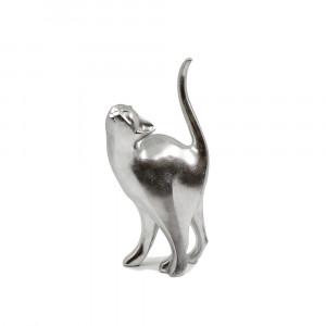 CAT ΔΙΑΚΟΣΜΗΤΙΚΗ ΓΑΤΑ POLYRESIN ΑΣΗΜΙ 17,5x11xY33cm