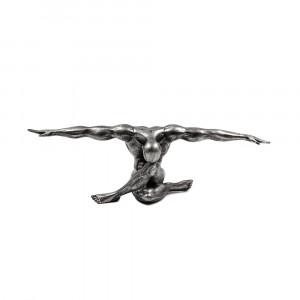 CLIFFHANGER ΑΓΑΛΜΑ POLYRESIN ΜΑΥΡΟ/ΑΣΗΜΙ 33,6x12xΥ11,8cm
