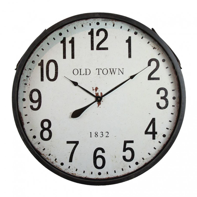 OLD TOWN ΡΟΛΟΙ ΤΟΙΧΟΥ ΑΣΠΡΟ/ΜΑΥΡΟ Δ81xΥ10cm