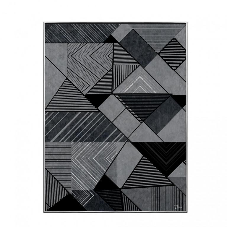 TRIGONOMETRY ΠΙΝΑΚΑΣ ΜΕ ΜΑΥΡΗ ΚΟΡΝΙΖΑ 60x80x3,5cm