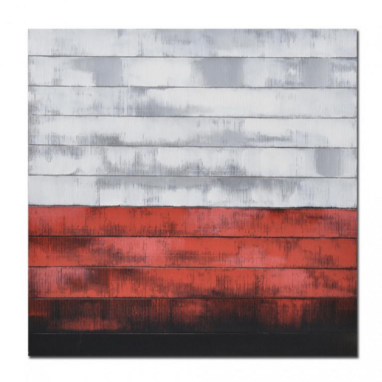 MURUS RED ΠΙΝΑΚΑΣ ΜΕ ΜΑΥΡΗ ΚΟΡΝΙΖΑ 80x80x4,5cm