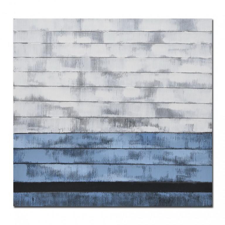 MURUS BLUE ΠΙΝΑΚΑΣ ΜΕ ΜΑΥΡΗ ΚΟΡΝΙΖΑ 80x80x4,5cm