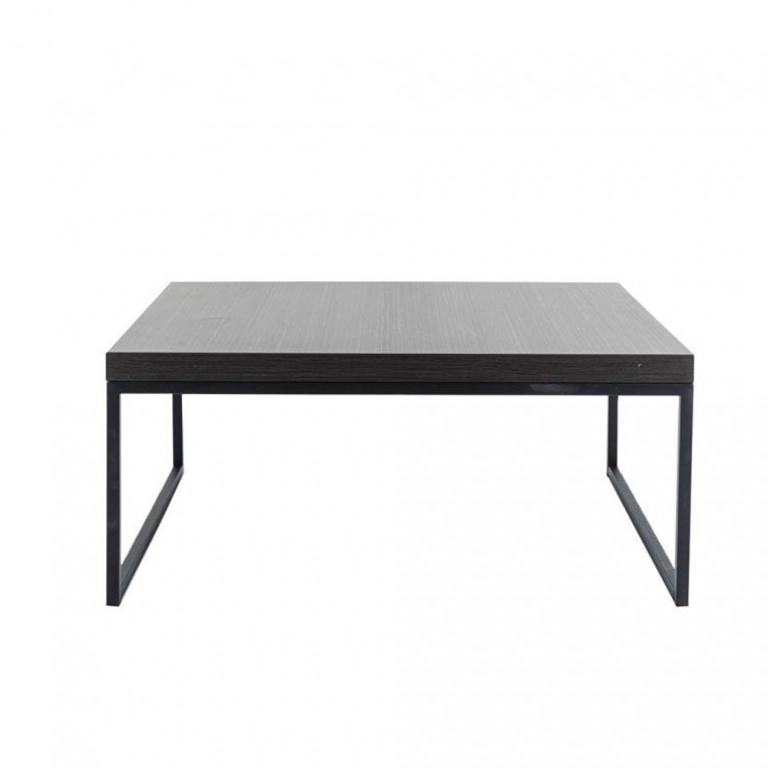 LIVING COFFEE TABLE ΜΑΥΡΟ OAK ΜΑΥΡΟ 91,5x91,5xH40cm
