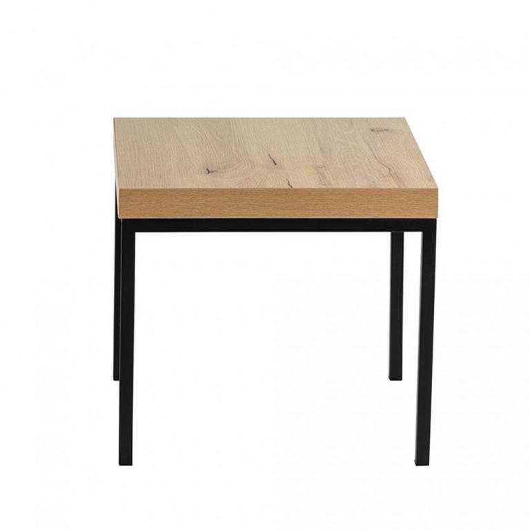 BROOKLYN SIDE TABLE NATURE ΜΑΥΡΟ 45x45xH42cm