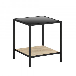 LOOK SIDE TABLE ΜΑΥΡΟ SONOMA 51x51xH56cm