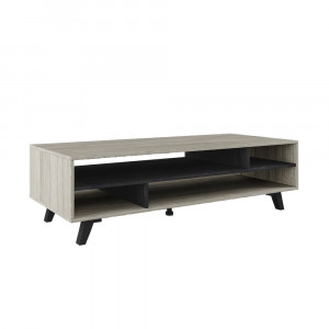 ELVIS COFFEE TABLE BLACK OAK ΓΚΡΙ OAK 137x50xH40cm