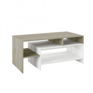 BALANCE COFFEE TABLE SONOMA ΣΚΟΥΡΟ ΛΕΥΚΟ OAK 120x60xH53cm