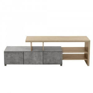 NEUTRAL TV STAND CEMENT ΣΚΟΥΡΟ SONOMA 160x39,5xH50cm