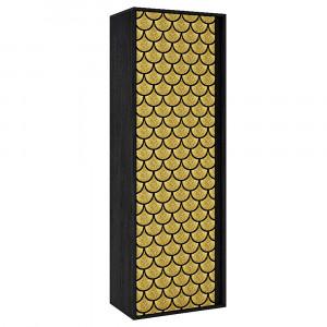 GOLDFISH ΝΤΟΥΛΑΠΑ-ΠΑΠΟΥΤΣΟΘΗΚΗ BLACK OAK GOLDFISH 60x38xH175cm