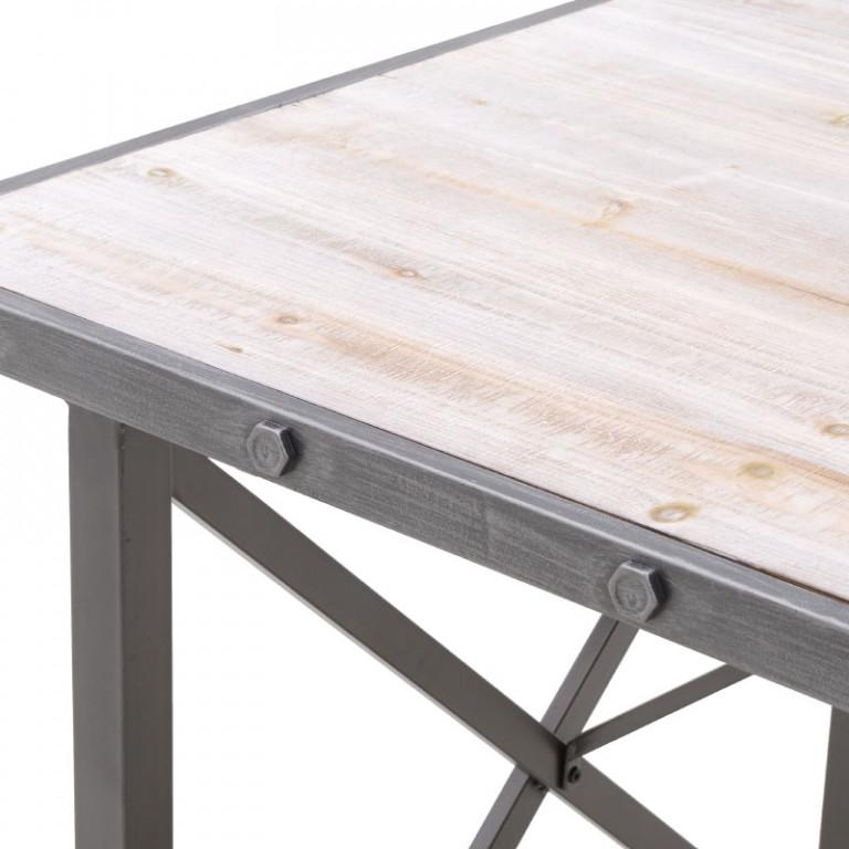 Μεταλλικό/Ξύλινο Τραπέζι