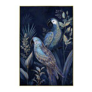 BLUE PARROT 1 ΠΙΝΑΚΑΣ ΜΑΥΡΗ ΚΟΡΝΙΖΑ 122,5x82,5xΥ4,5cm