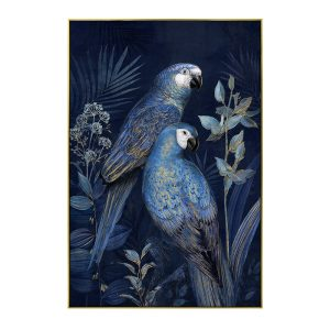 BLUE PARROT 2 ΠΙΝΑΚΑΣ ΜΑΥΡΗ ΚΟΡΝΙΖΑ 122,5x82,5xΥ4,5cm