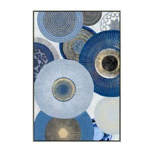 CIRCLES 2 ΠΙΝΑΚΑΣ CHAMPAGNE ΚΟΡΝΙΖΑ 82,5x122,5xΥ4,5cm