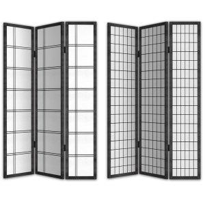 TOKYO ΔΙΑΧΩΡΙΣΤΙΚΟ ΧΩΡΟΥ ΜΑΥΡΟ/ΛΕΥΚΟ 120x2,5xH180cm