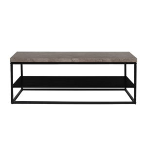 ALE COFFEE TABLE CEMENT ΜΑΥΡΟ ΜΑΥΡΟ 120x60xH45cm