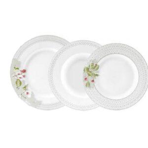 Σετ πιάτα φαγητού 19 τμχ Ionia Βουκαμβίλια