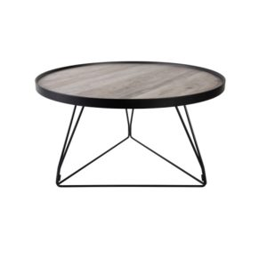 HOOPER COFFEE TABLE TAUPE ΜΑΥΡΟ D70xH41cm