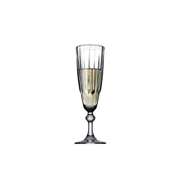 (CAM1024) DIAMOND CHAMPAGNE GLASS 170CC 20.6EK P576