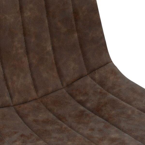 ΚΑΡΕΚΛΑ ΜΕΤΑΛΛΙΚΗ FB98040.03 ΜΕ ΚΑΘΙΣΜΑ PU ΚΑΦΕ 45x55,5x86,5 εκ.