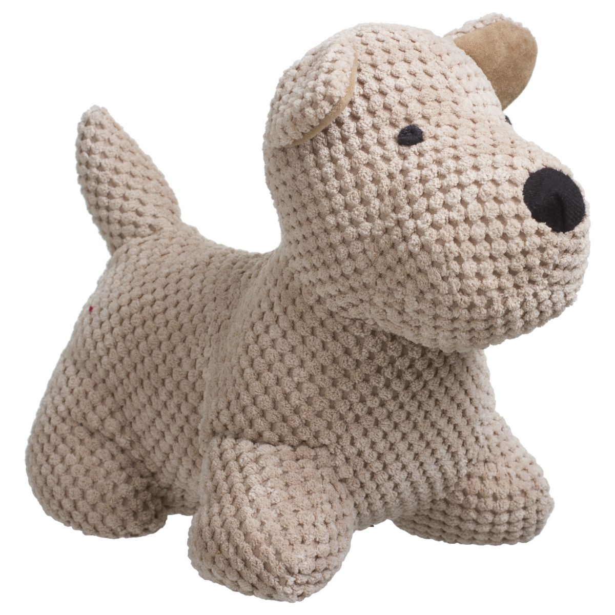 DOOR STOP DOG POPCORN, 31X24, BEIGE