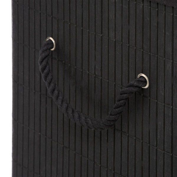 ΚΑΛΑΘΙ ΑΠΛΥΤΩΝ ΜΑΥΡΟ BAMBOO, 40Χ30Χ50cm