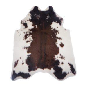 COW, ΧΑΛΑΚΙ ΓΟΥΝΑ ΛΕΥΚΟ - ΚΑΦΕ, POLYESTER/ACRYLIQUE, L. 100 x l. 94 cm