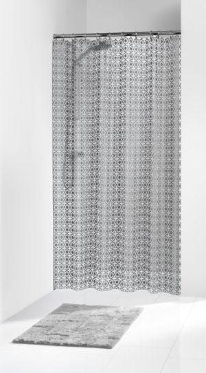 Κουρτίνα Μπάνιου Hammam Silver 180x200