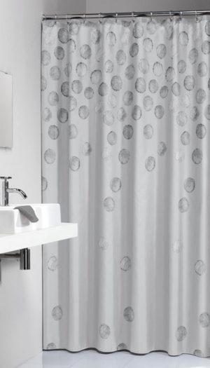 Κουρτίνα Μπάνιου Spots Silver 180x200