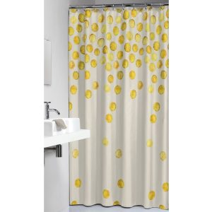 Κουρτίνα Μπάνιου Spots Gold 180x200