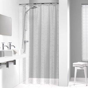Κουρτίνα Μπάνιου Pebbles Transparent 180x200
