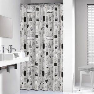 Κουρτίνα Μπάνιου Cactus Grey 180x200
