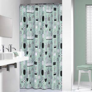 Κουρτίνα Μπάνιου Cactus Green 180x200