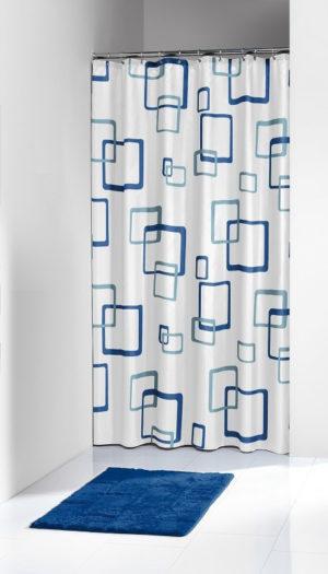 Κουρτίνα Μπάνιου Retro Βlue 180x200