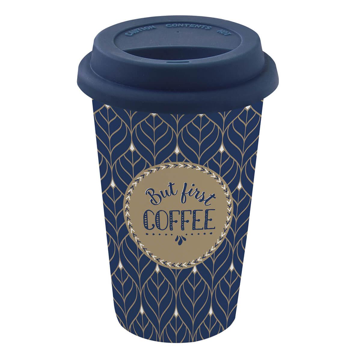 COFFEE ΚΟΥΠΑ ΤΑΞΙΔΙΟΥ 350 ML ΣΙΛΙΚΟΝΗ ΚΑΠΑΚΙ