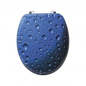 WATER DROPS, ΚΑΠΑΚΙ ΛΕΚΑΝΗΣ MDF ΜΠΛΕ ME ΙΝΟΧ ΒΑΣΕΙΣ 50x37.5cm
