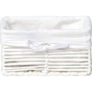 Καλάθι από νήμα και μεταλλικό σκελετό, λευκό, 44Χ31Χ17