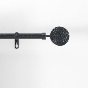 BULLETTE, ΚΟΥΡΤΙΝΟΞΥΛΟ ΜΕΤΑΛΛΙΚΟ ΜΑΥΡΟ/ΑΣΗΜΙ Φ19mm 120-210cm